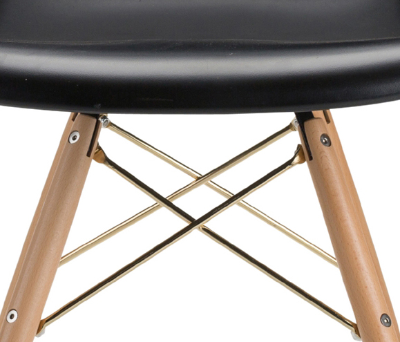 the earnest dining chair in black with gold