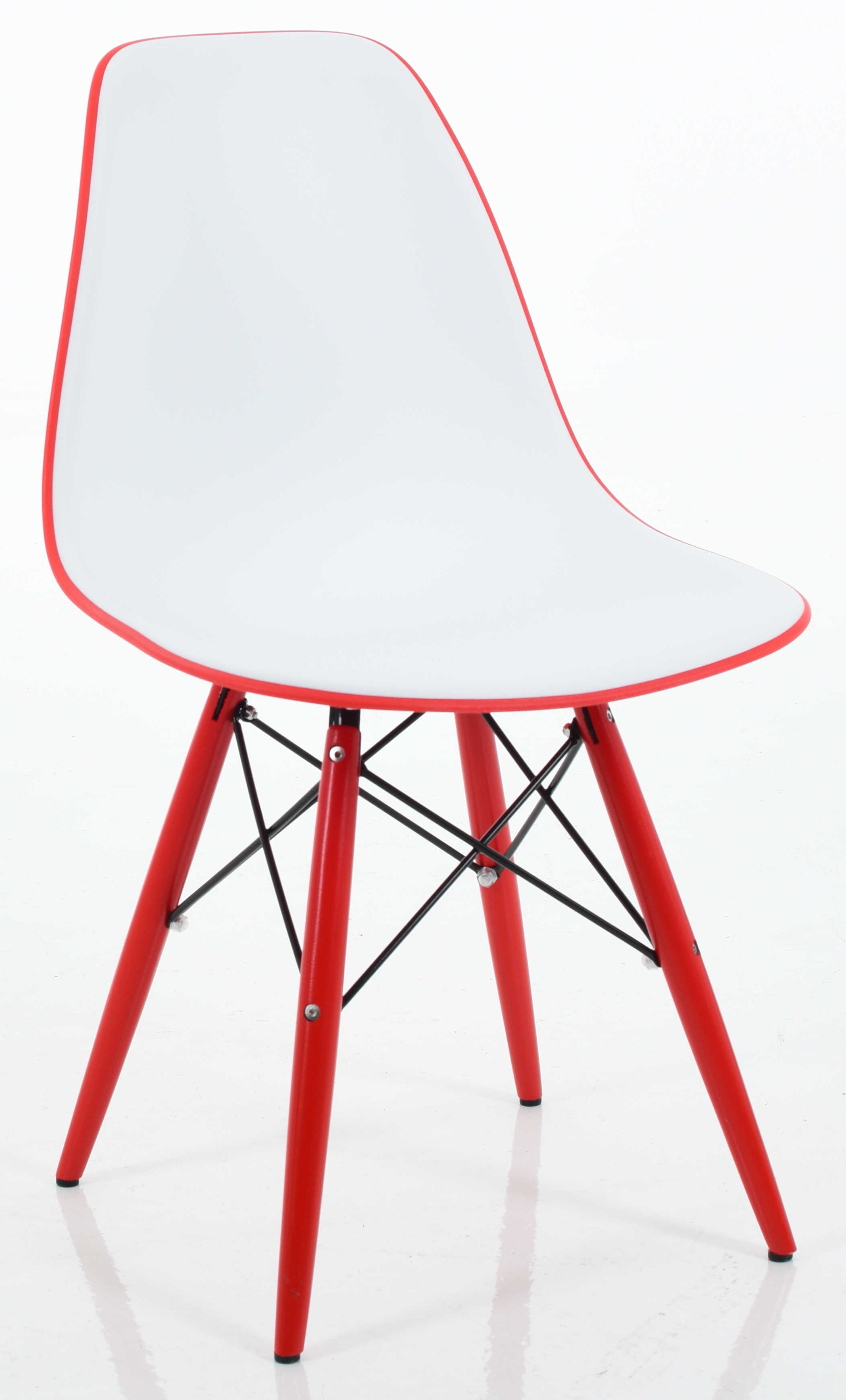 ... Eiffel Chair In Red Seat ...