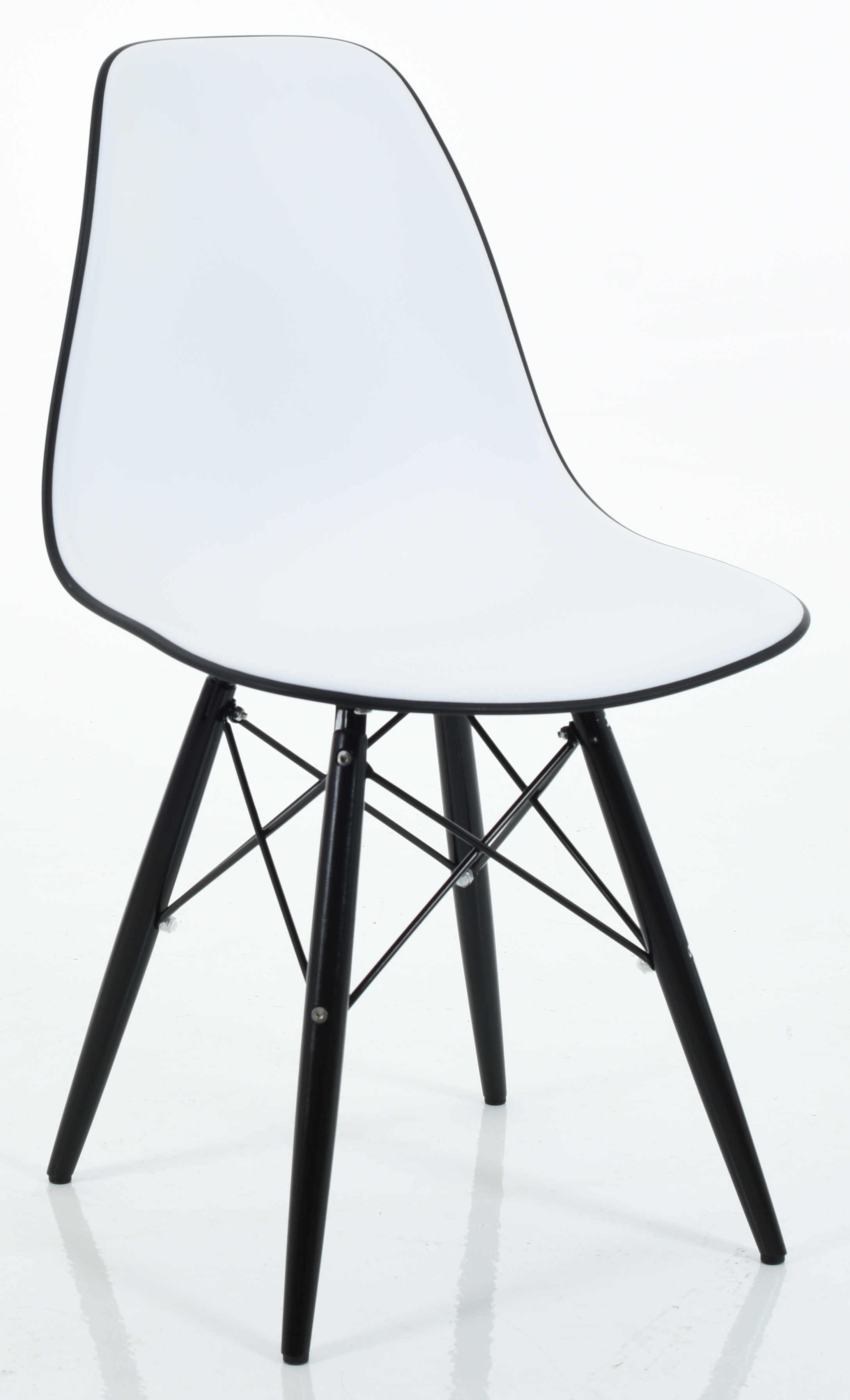 Eiffel Dining Chair In Black Back ...