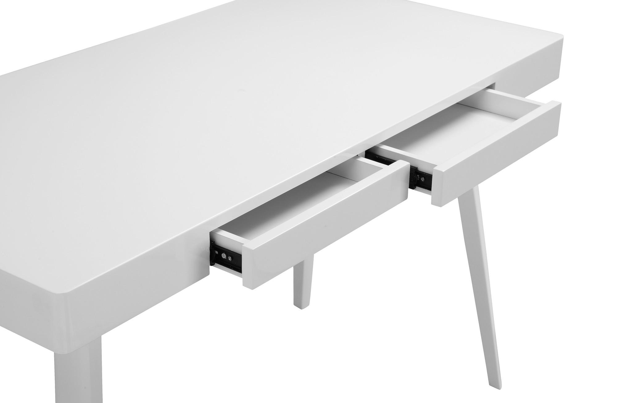 ... Glossy White Griffin Computer Desk
