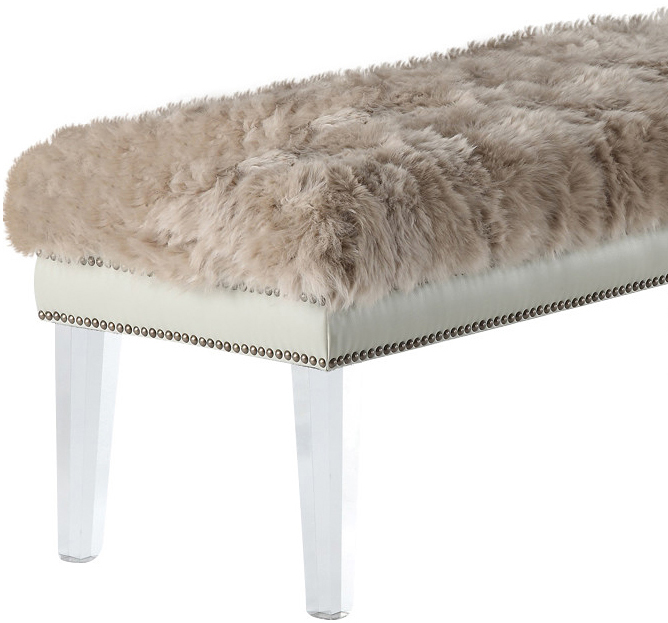the helena sheepskin bench in brown