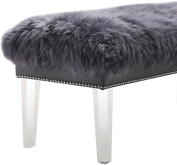 the helena sheepskin bench in grey