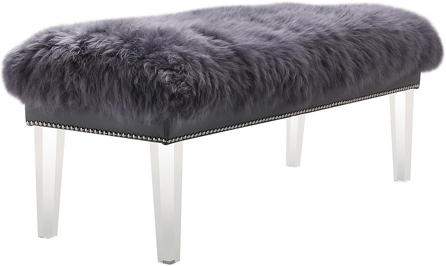 Helena Sheepskin Bench Authentic Mongolian Fur