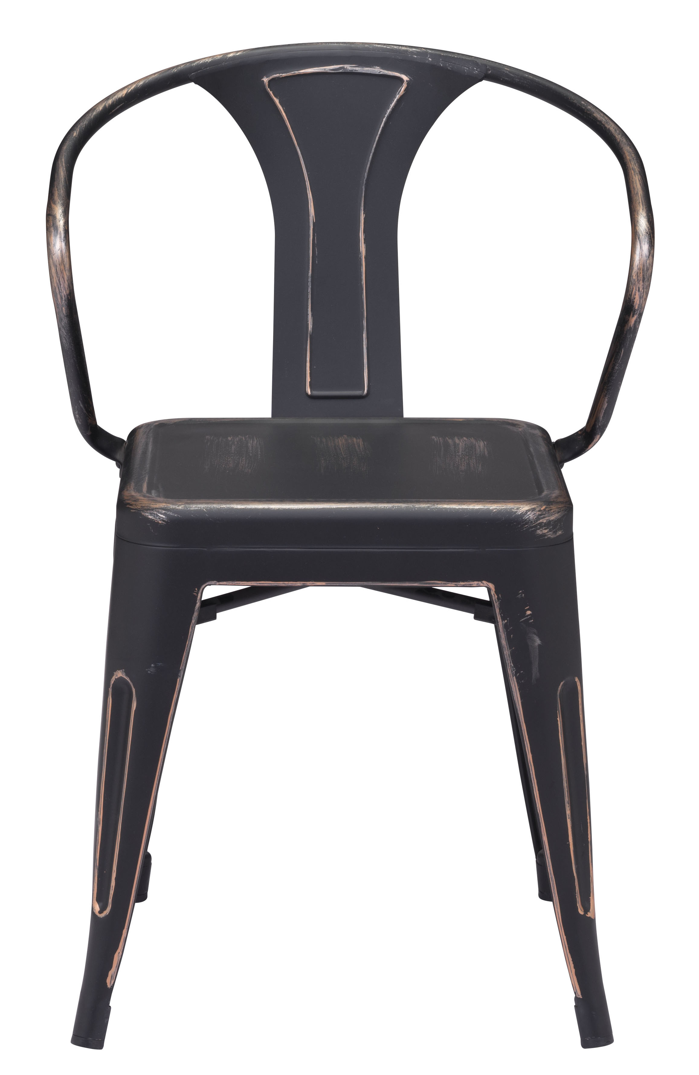 ZUO HELIX CHAIR ANTIQUE RUSTIC BLACK FINISH RUSTIC SIDE DINING
