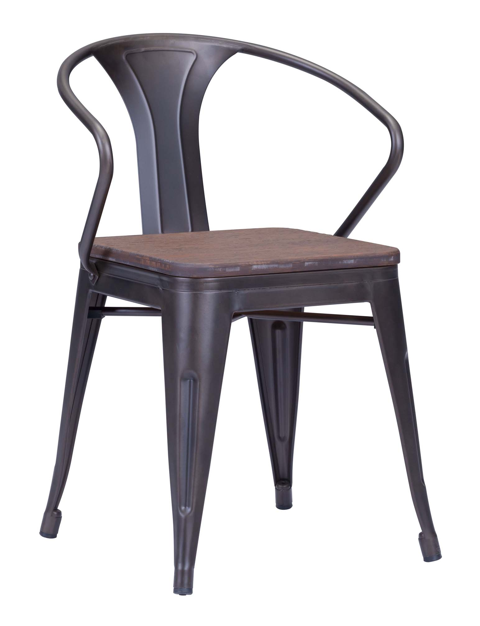dining chair by zuo helix ...  sc 1 st  Advanced Interior Designs & ZUO HELIX DINING CHAIR WITH WOOD SEAT | GUNMETAL CHAIRS INDUSTRIAL islam-shia.org