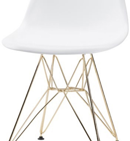 max dining chair in white with gold