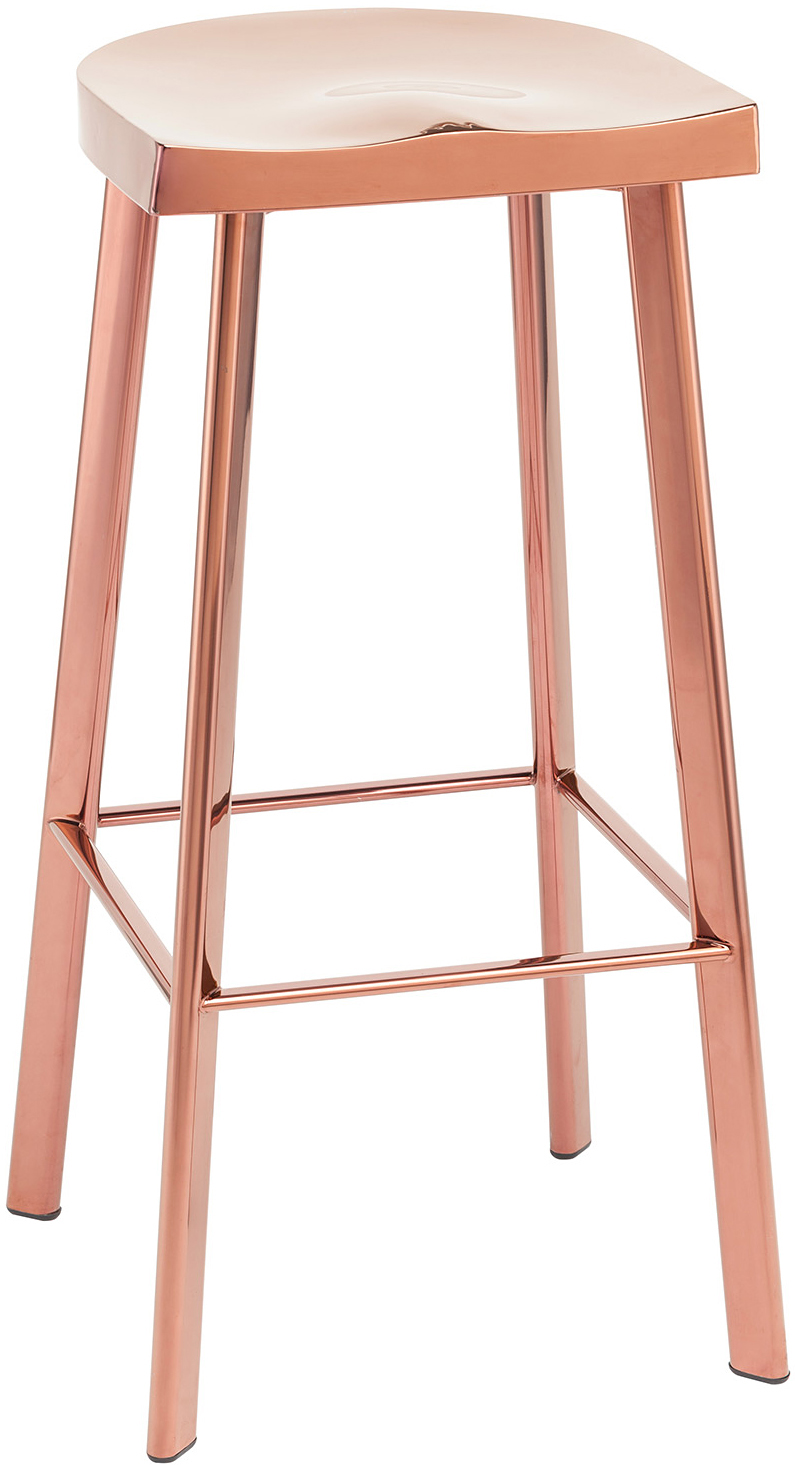 the icon bar chair in rose gold