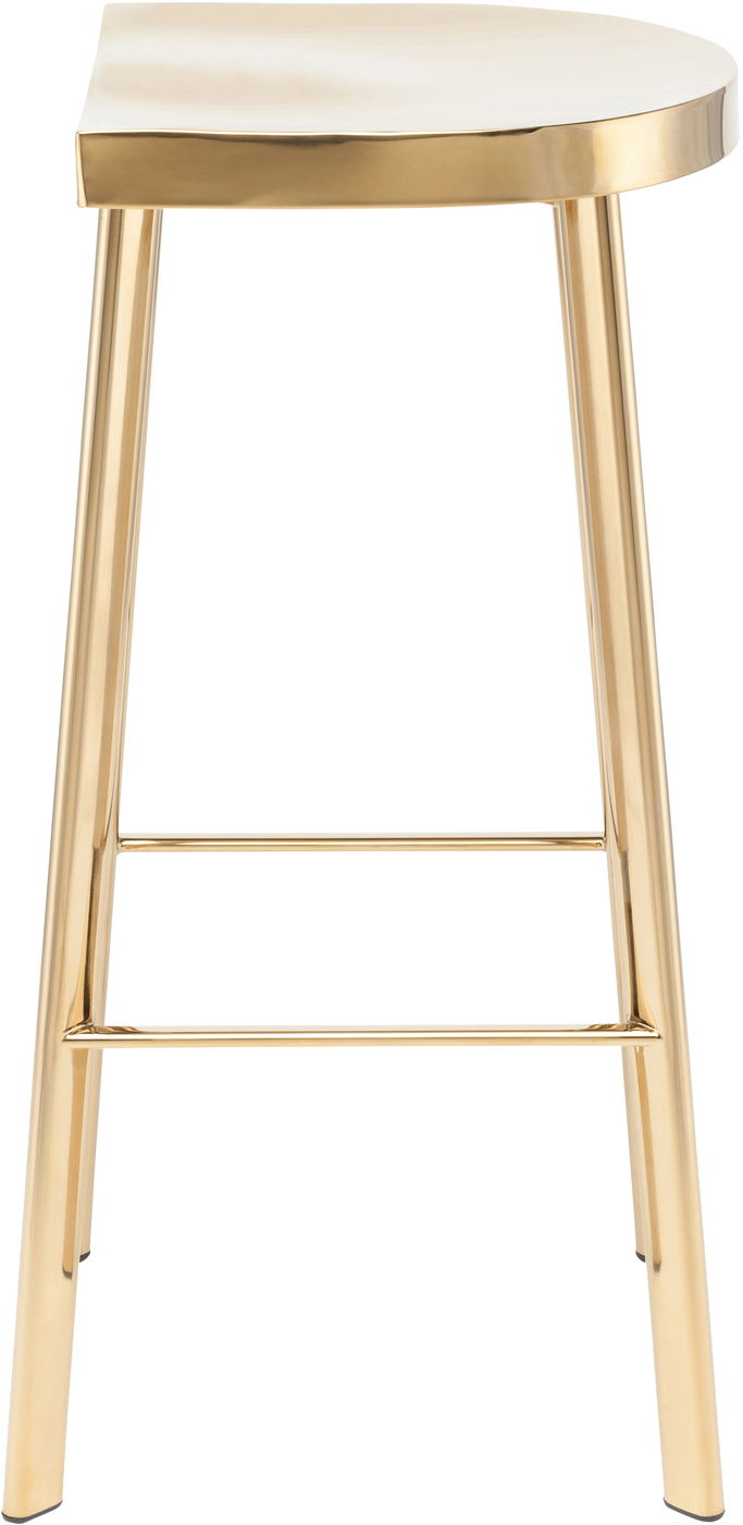 icon counter stool polished gold