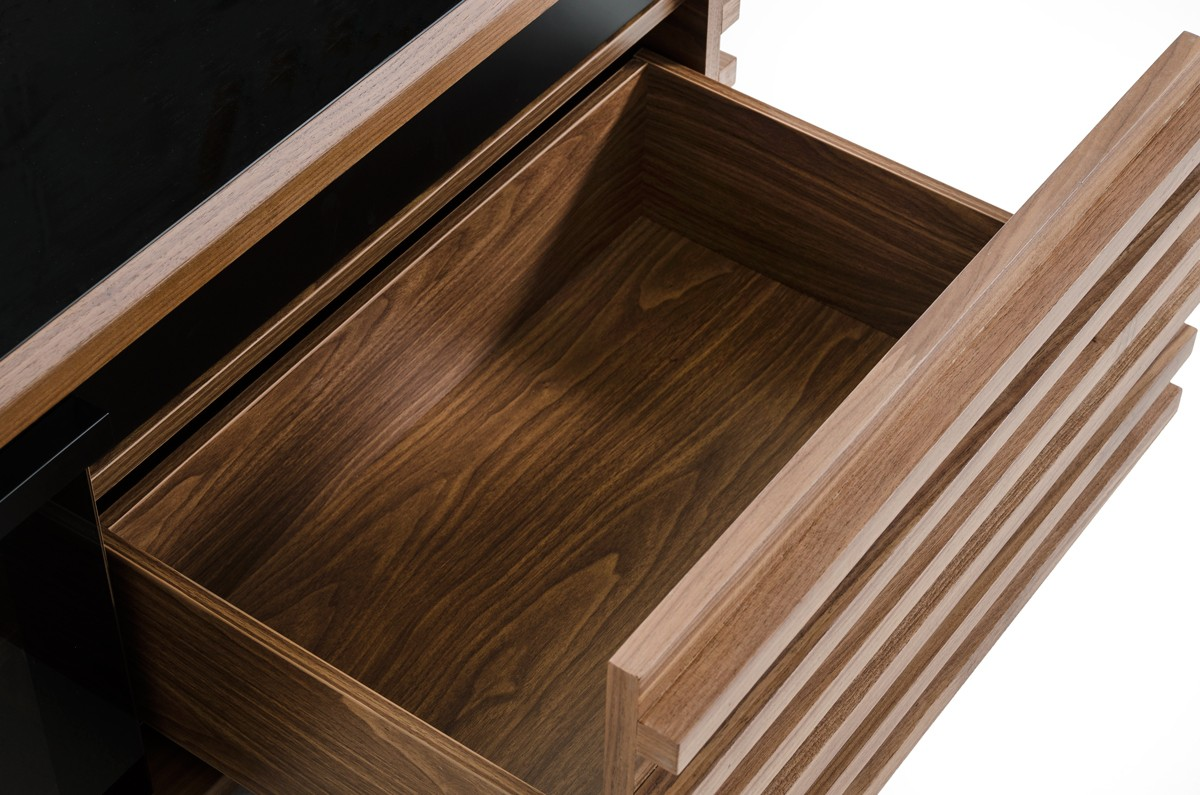 inside of viktor tv stand walnut