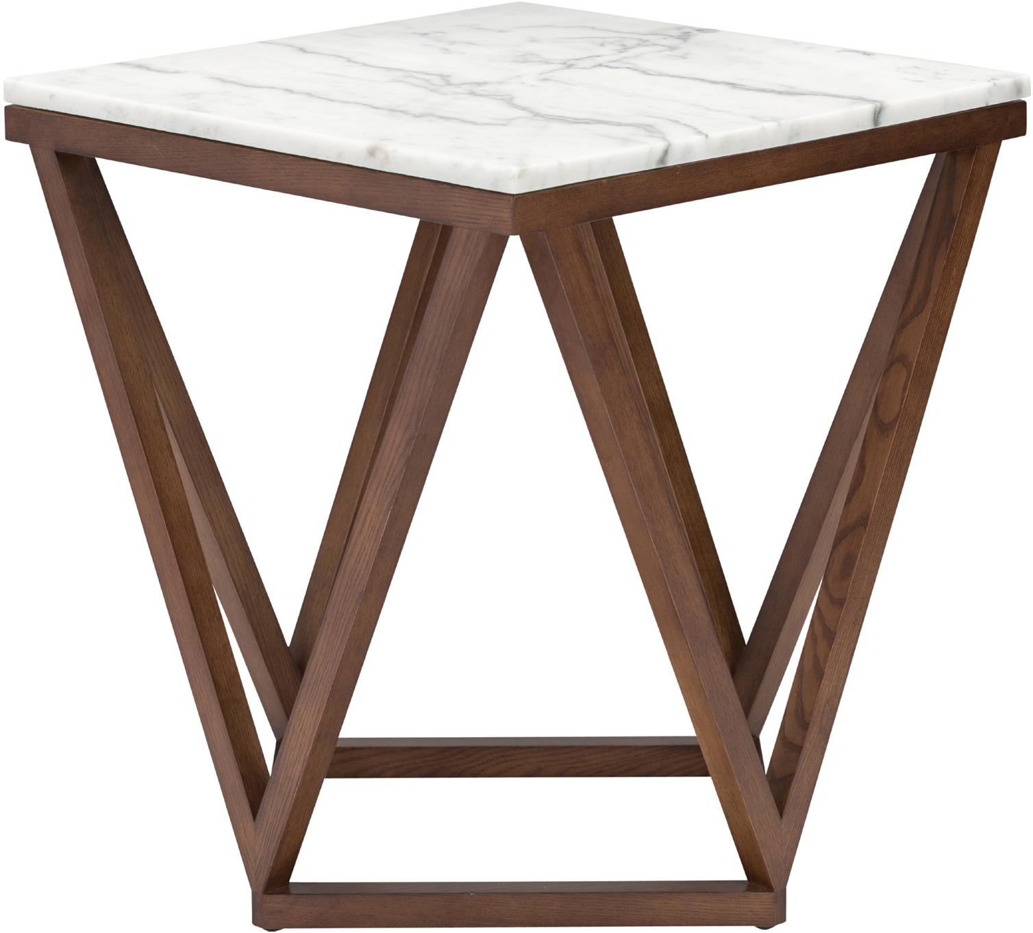 the jasmine side table in white