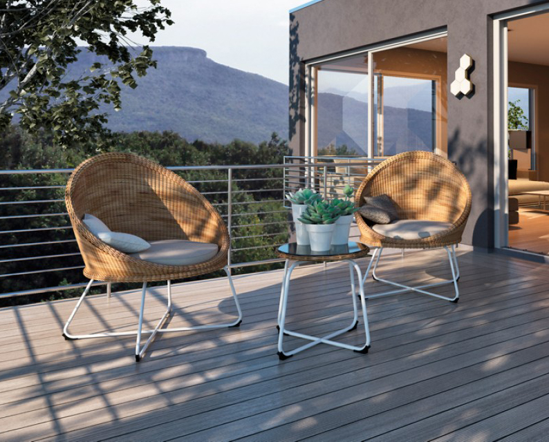 lakeland 3 piece wicker outdoor set