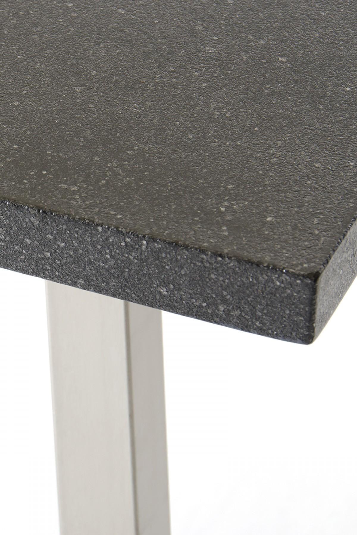lanikai black granite dining table close up2