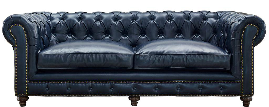 grey leather sofa chesterfield for sale at AdvancedInteriorDesigns.com