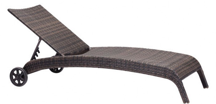 Lido chaise lounge zuo modern 703079 outdoor patio chaise for Chaise lounge construction