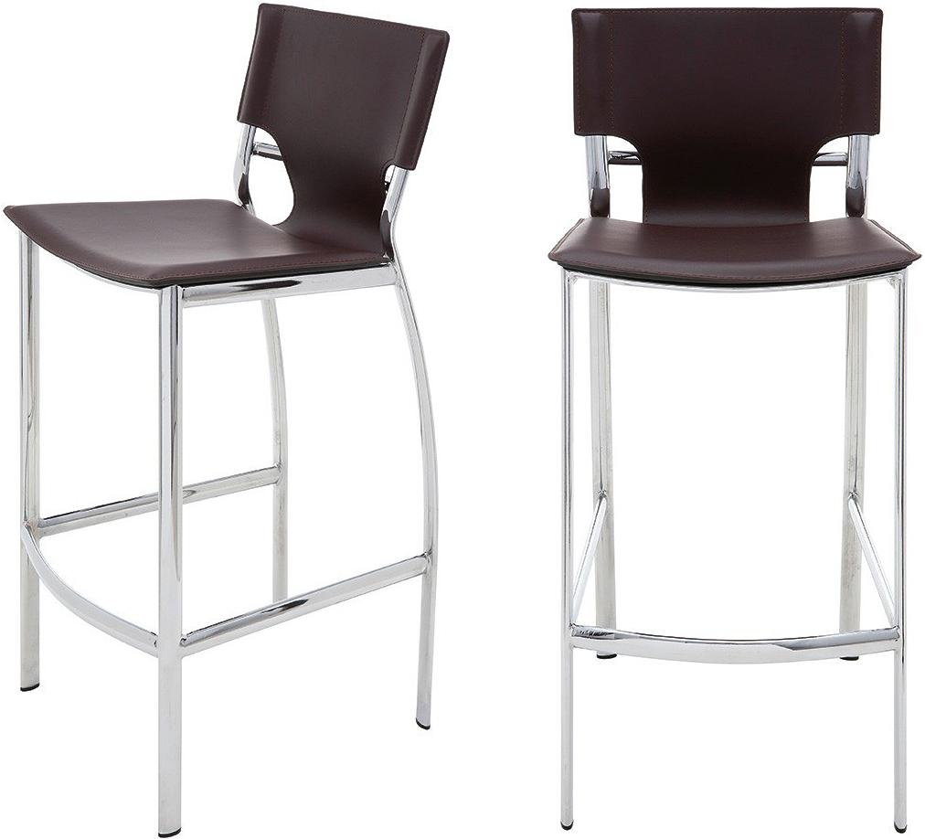 the lisbon bar stool in chocolate
