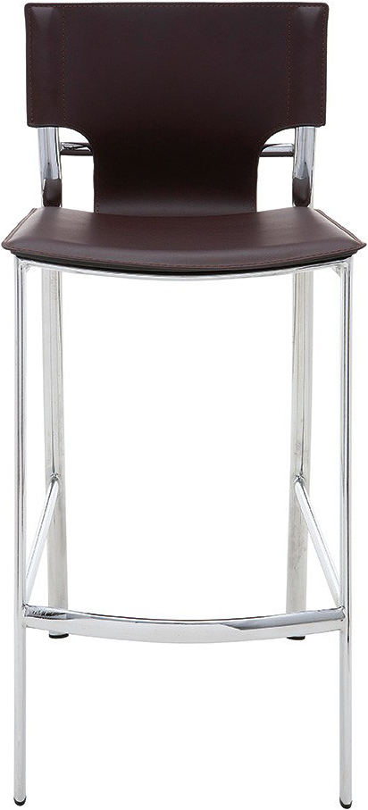 the lisbon counter stool in chocolate