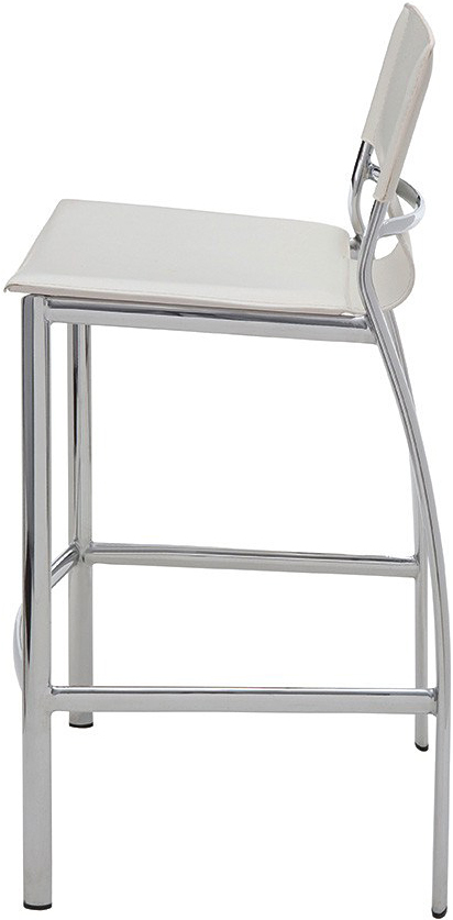 the lisbon counter stool in white