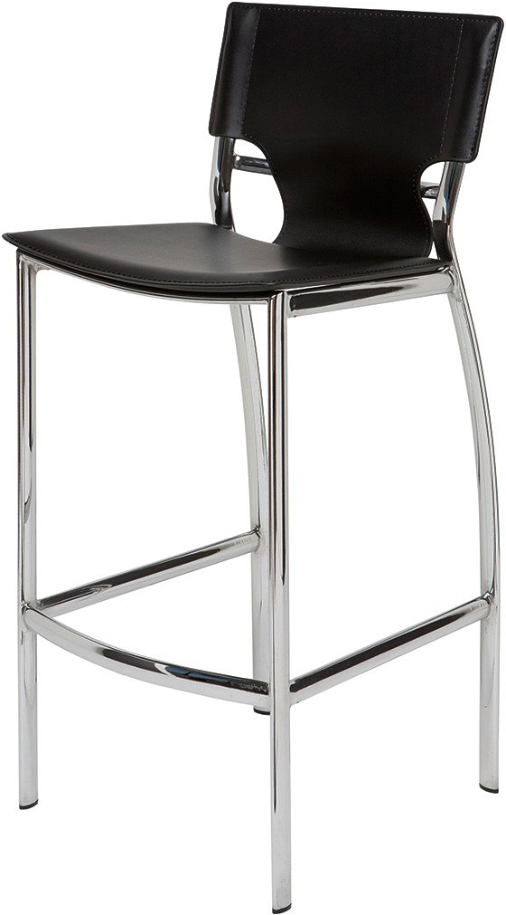 nuevo lisbon counter stool in black