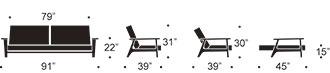 measurments for splitback frej sofa