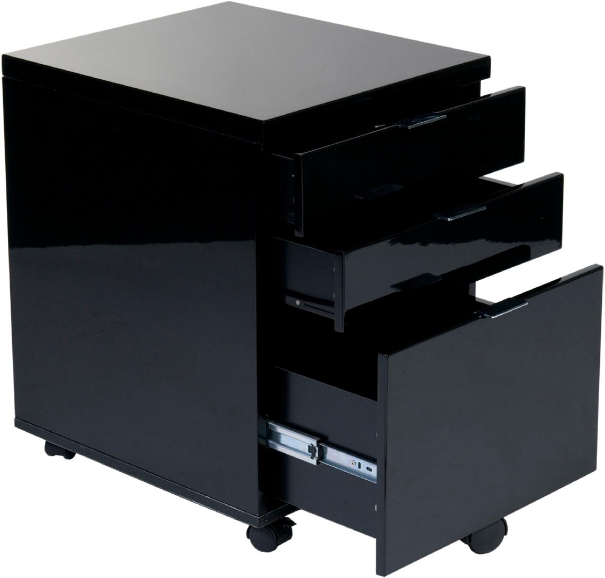 the metro filing cabinet in black