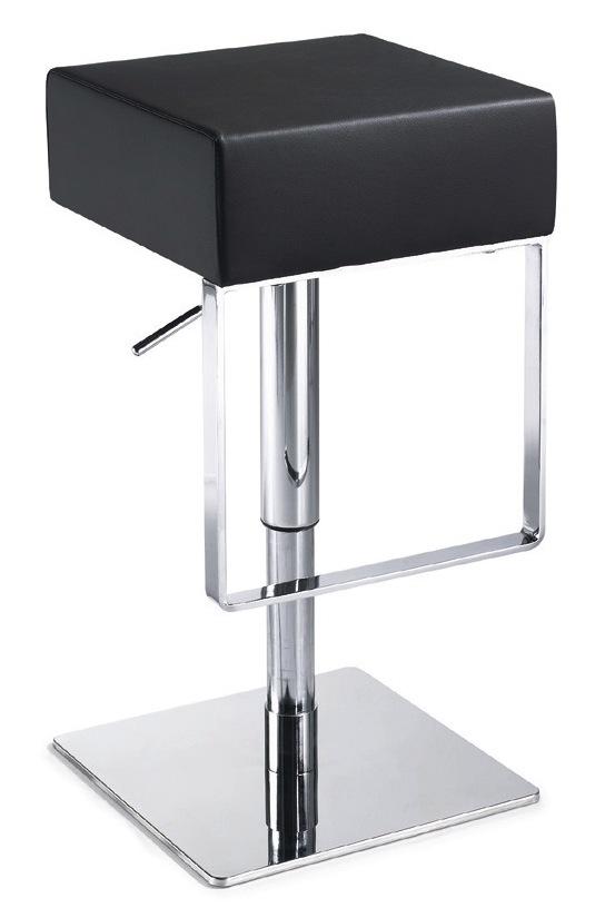 Miller Adjustable Stool Backless Leather Modern Bar and  : miller adjustable stool black from stores.advancedinteriordesigns.com size 544 x 816 jpeg 52kB