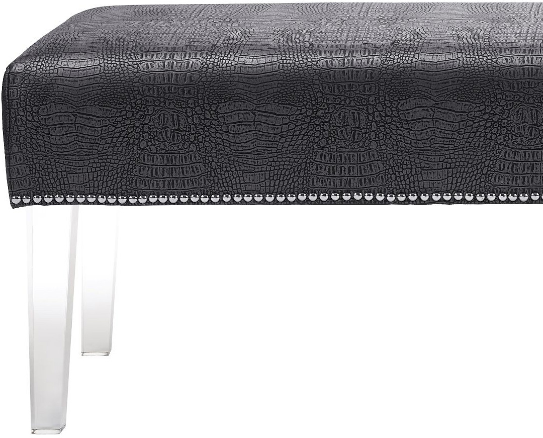 the mirage crocodile bench in grey