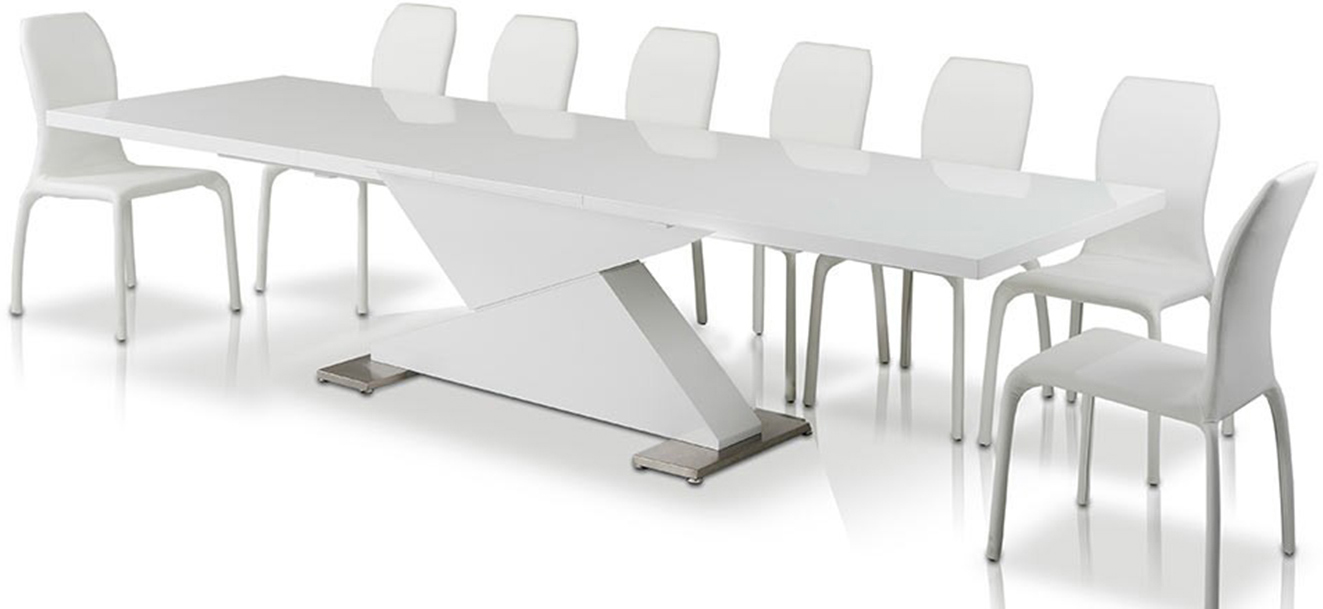 Check out the new Domenico modern extendable dining table available at AdvancedInteriorDesigns.com