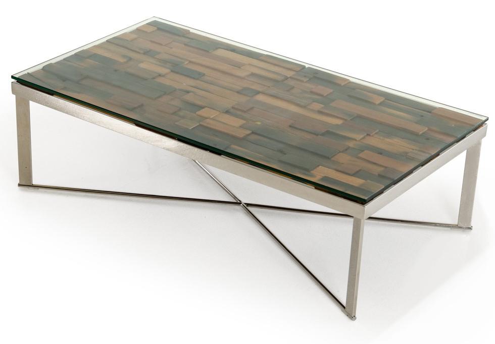 Mosaic Wood Table ...