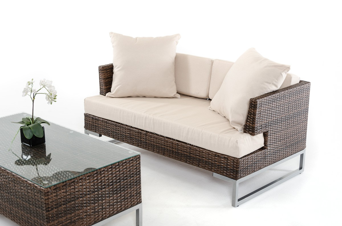 advanced interior design presents the nemto brown outdoor rattan sofa