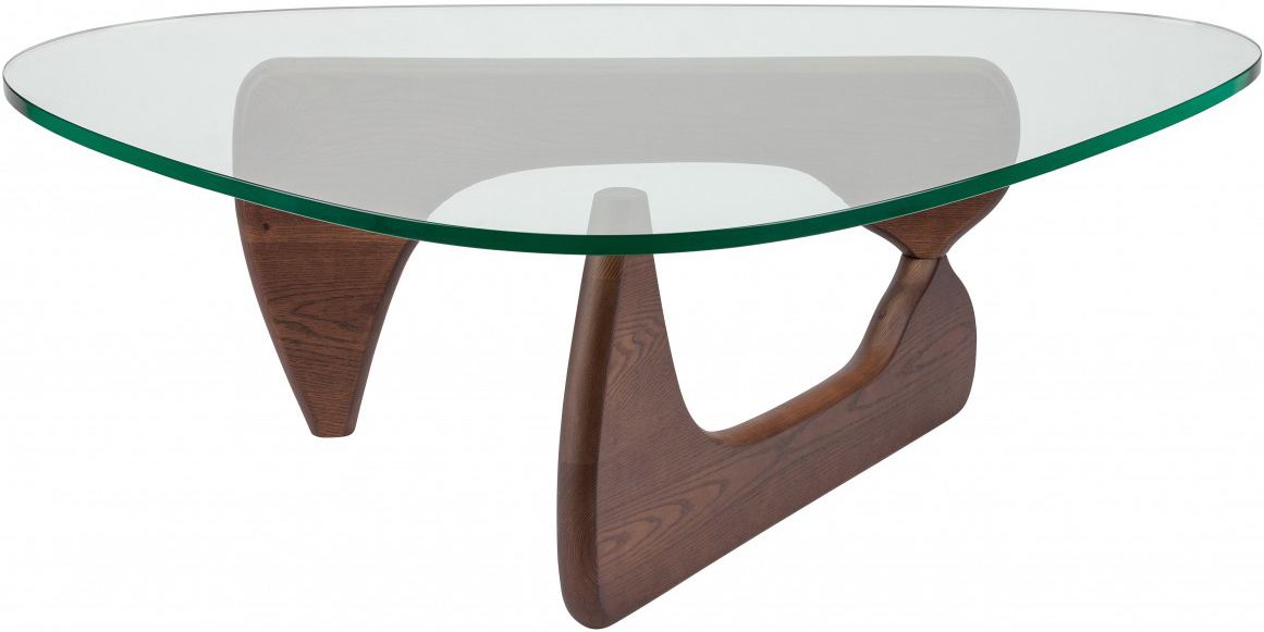 the noguchi inspired coffee table in brown