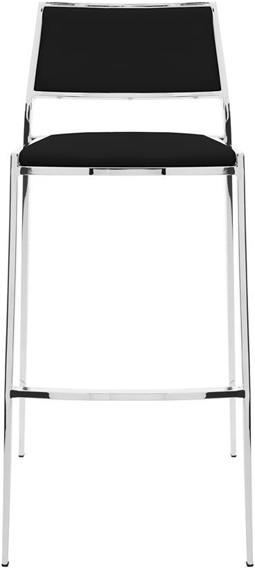 the nuevo aaron counter stool black