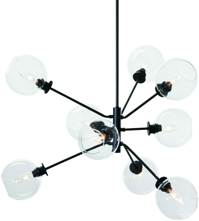 atom pendant lamp in clear by nuevo