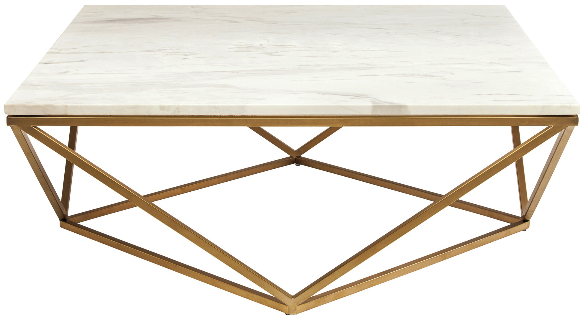 ... Nuevo Jasmine Coffee Table White Marble