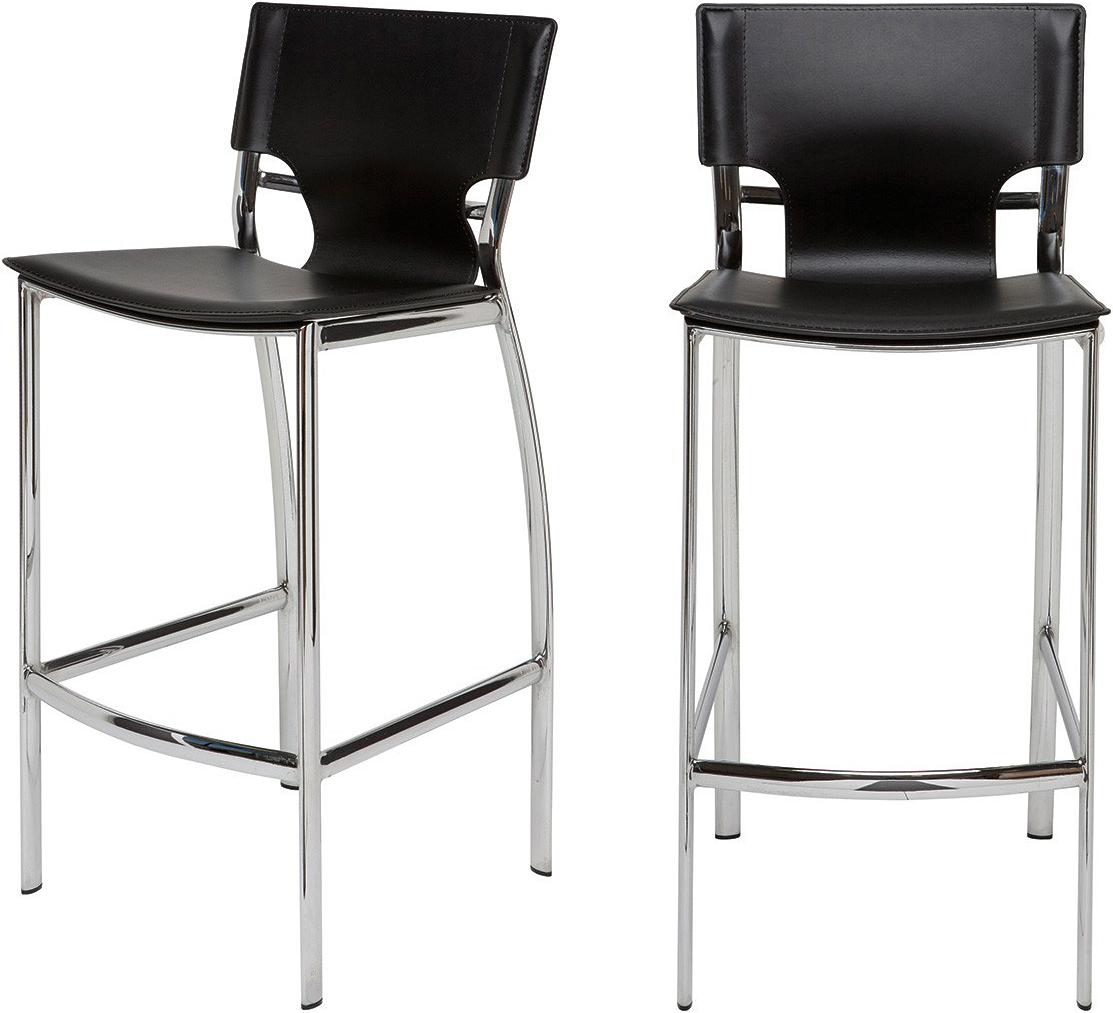 the nuevo lisbon bar chair in black