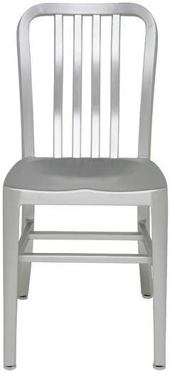 the brand new nuevo living soho dining chair in aluminum