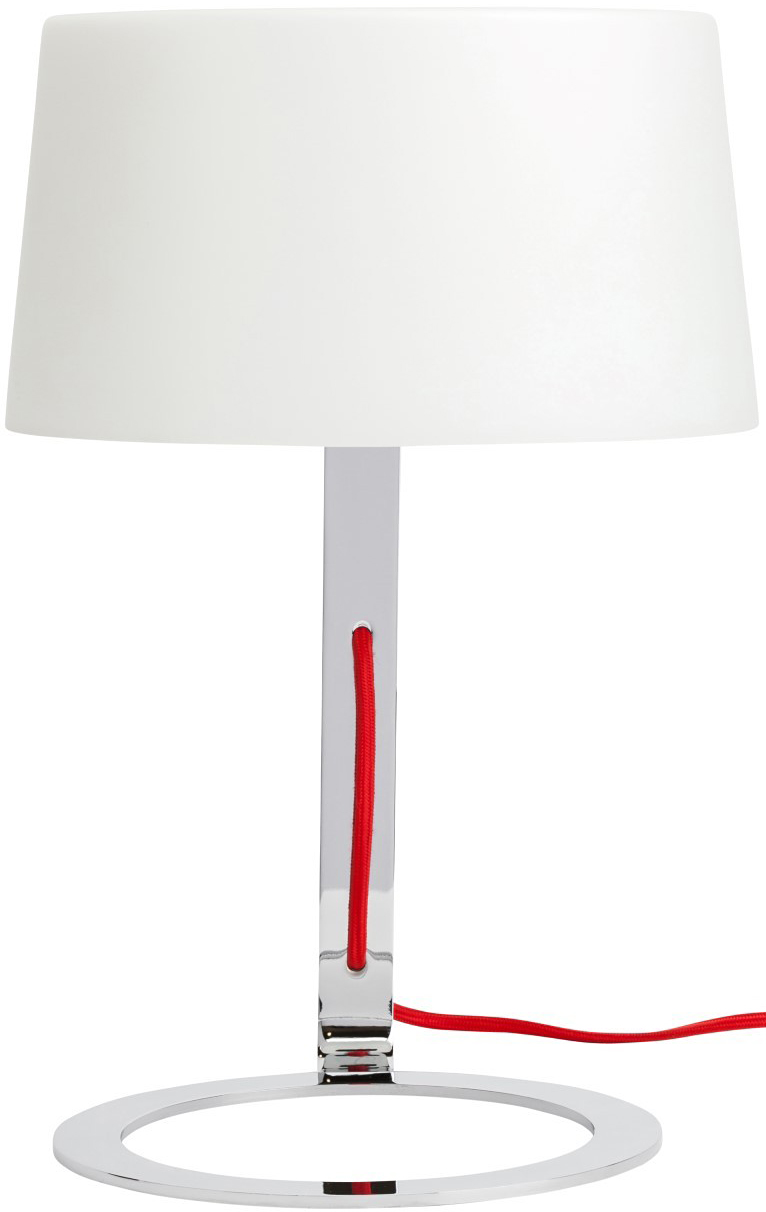 nuevo scarlet table lamp white lampshade