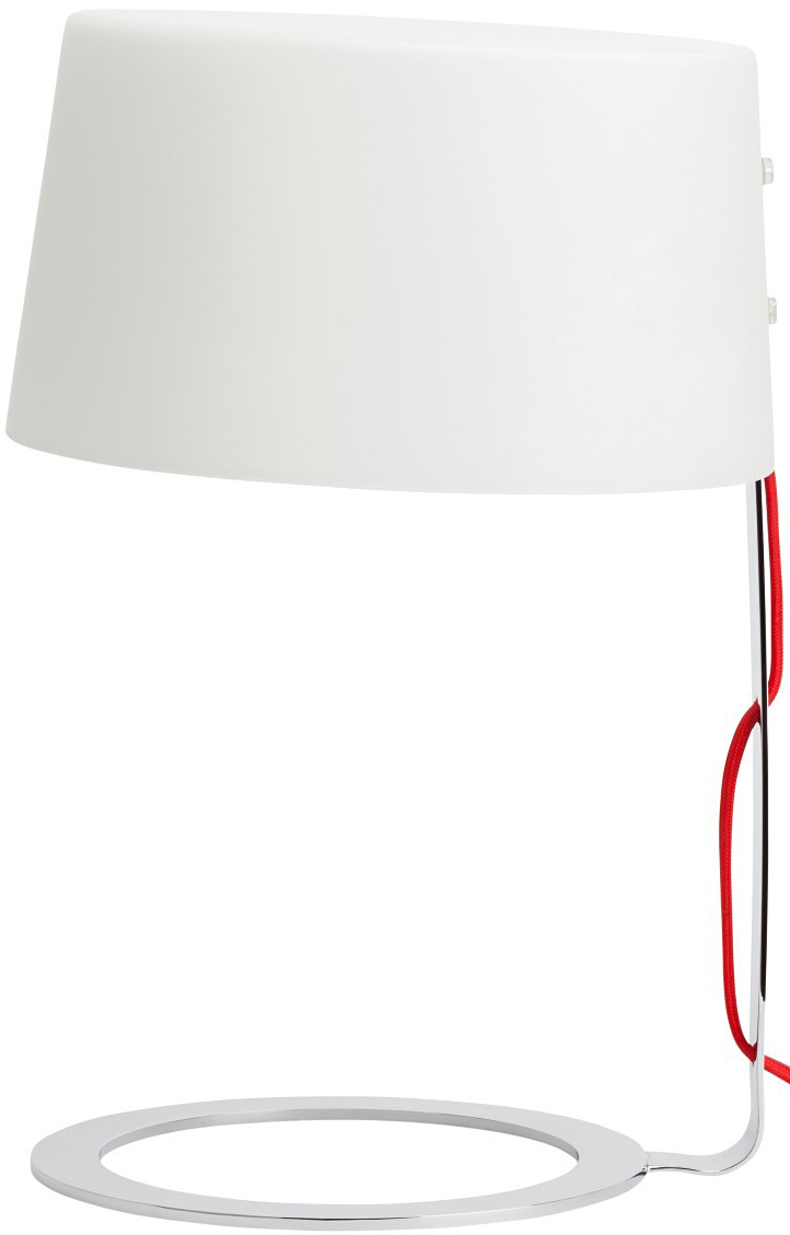the nuevo scarlet table lamp in white