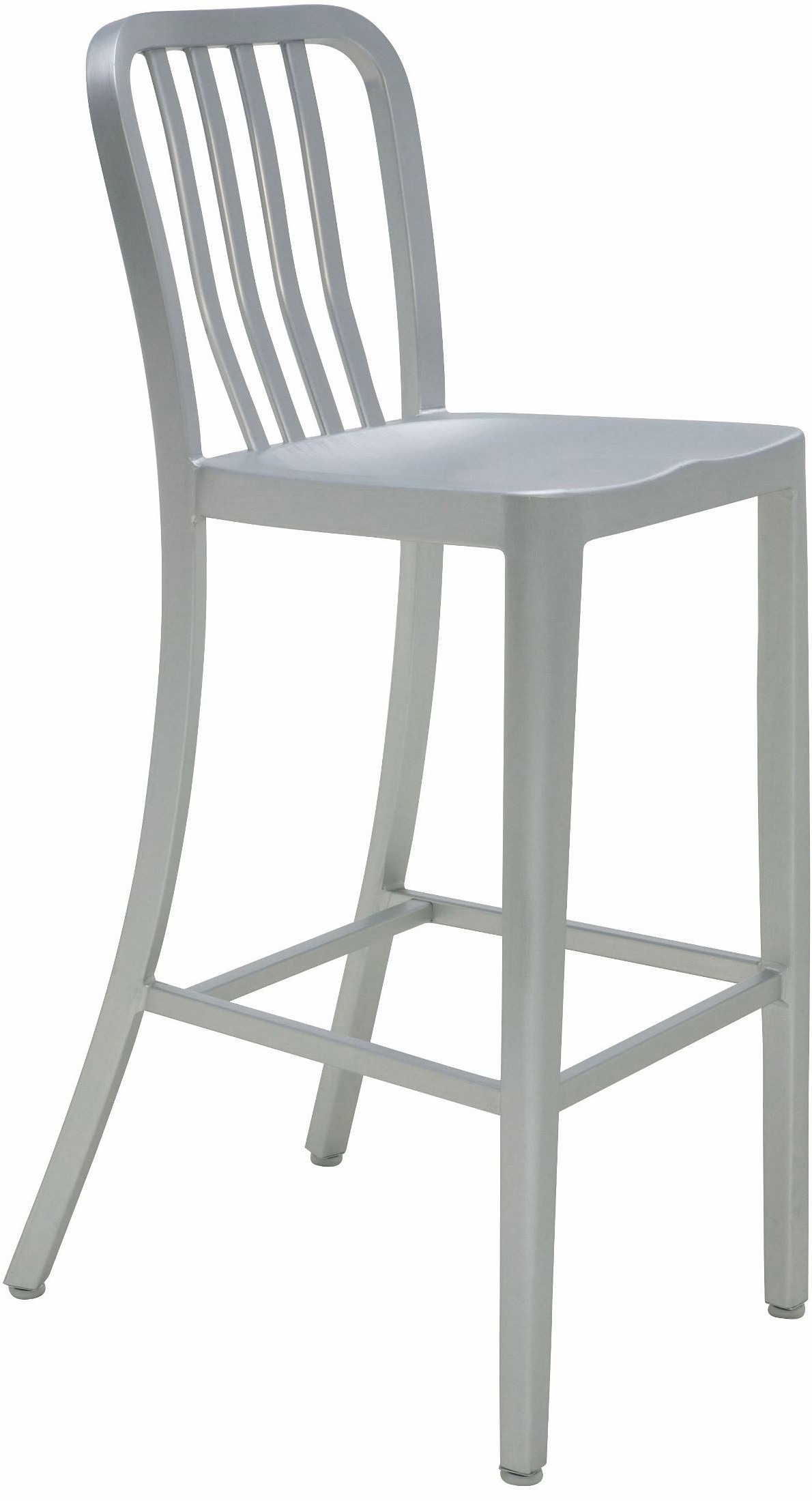 the nuevo soho bar stool in aluminum