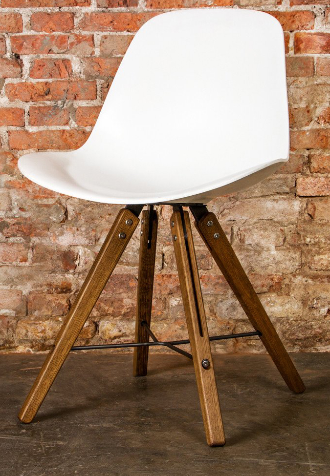 the theo shell chair in white by nuevo living