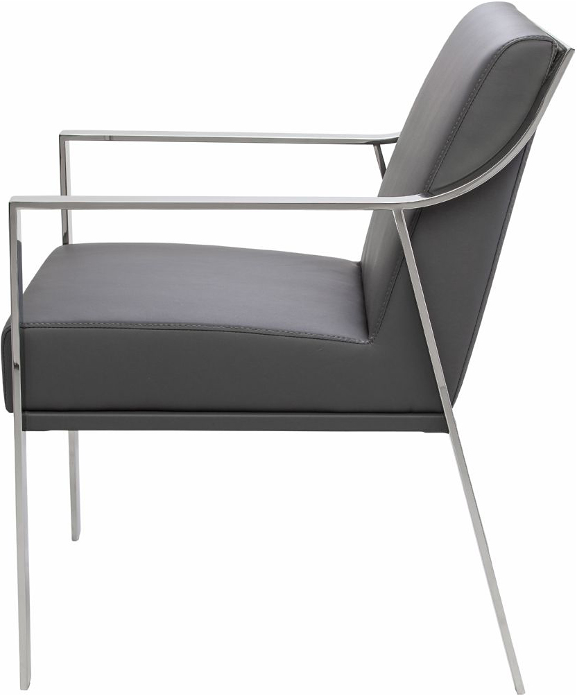 the nuevo valentine dining chair in grey