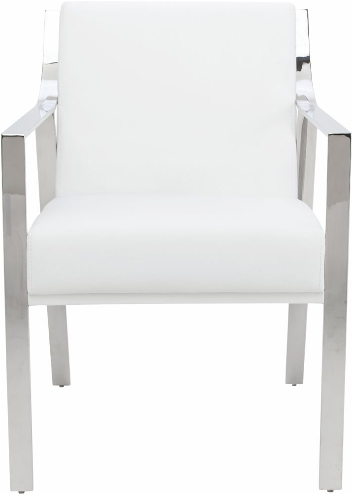 the nuevo valentine dining chair in white