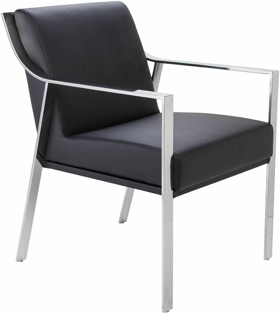 the nuevo valentine dining chair in black