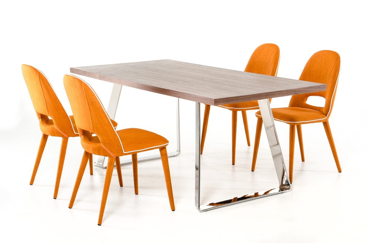 Bon ... Fabric Dining Chair New Orange Dining Chairs ...