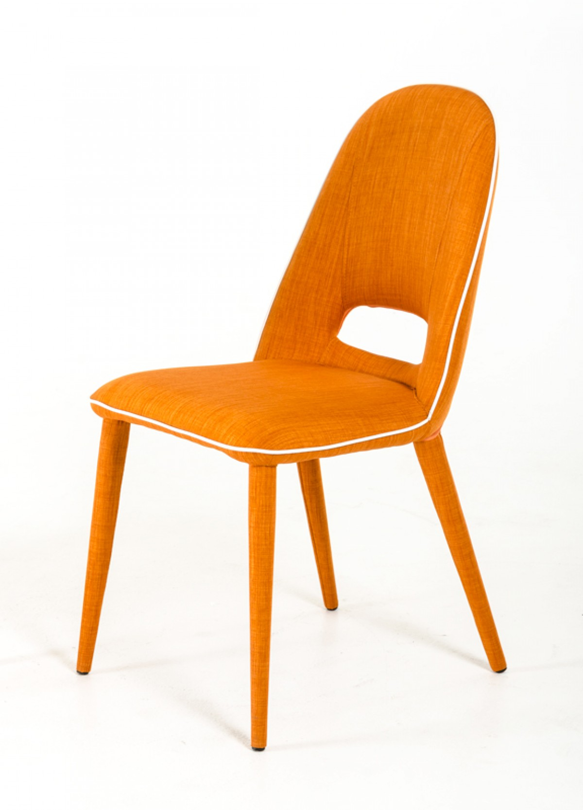 Kenneth Orange Fabric Dining Chairs Orange Dining Chair