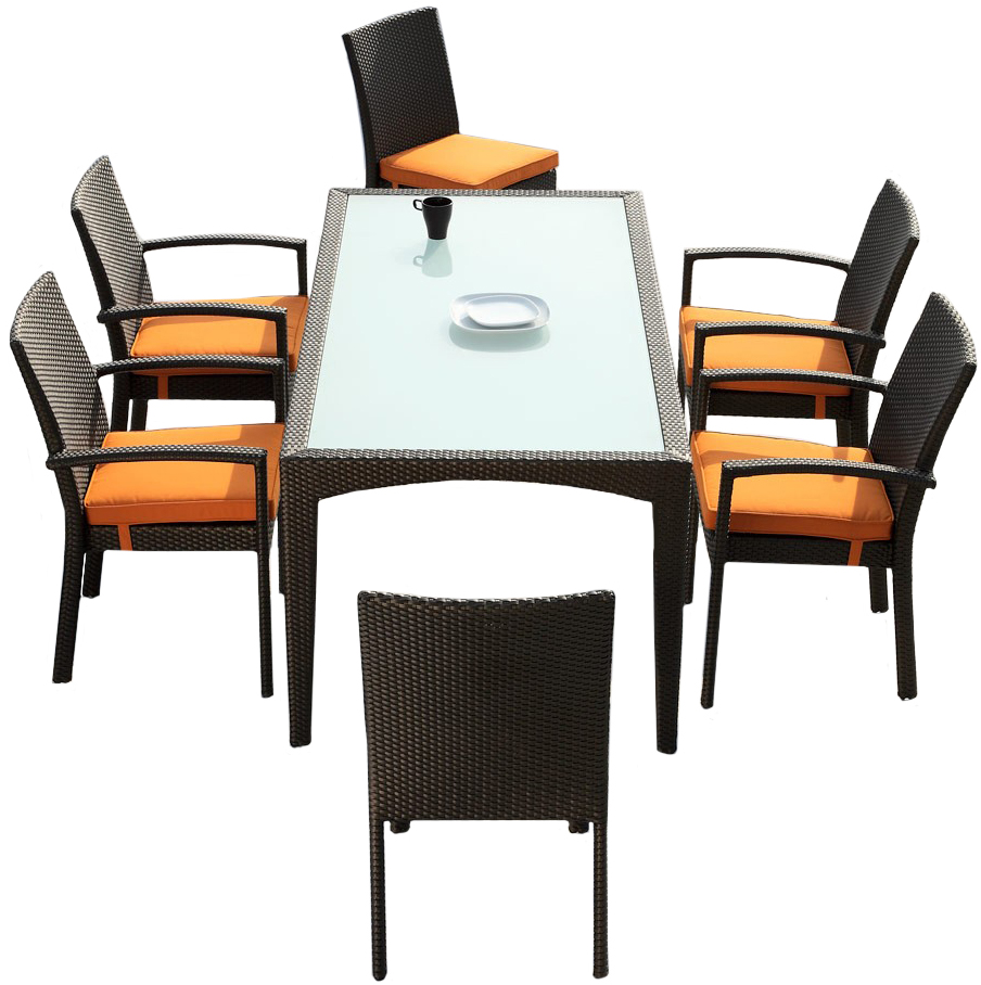 check out the brand new outdoor 7 piece dining set
