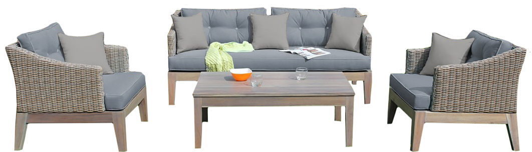 Brand new outdoor gray sofa set