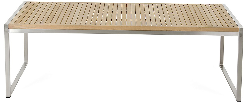 palizzi teak outdoor coffee table