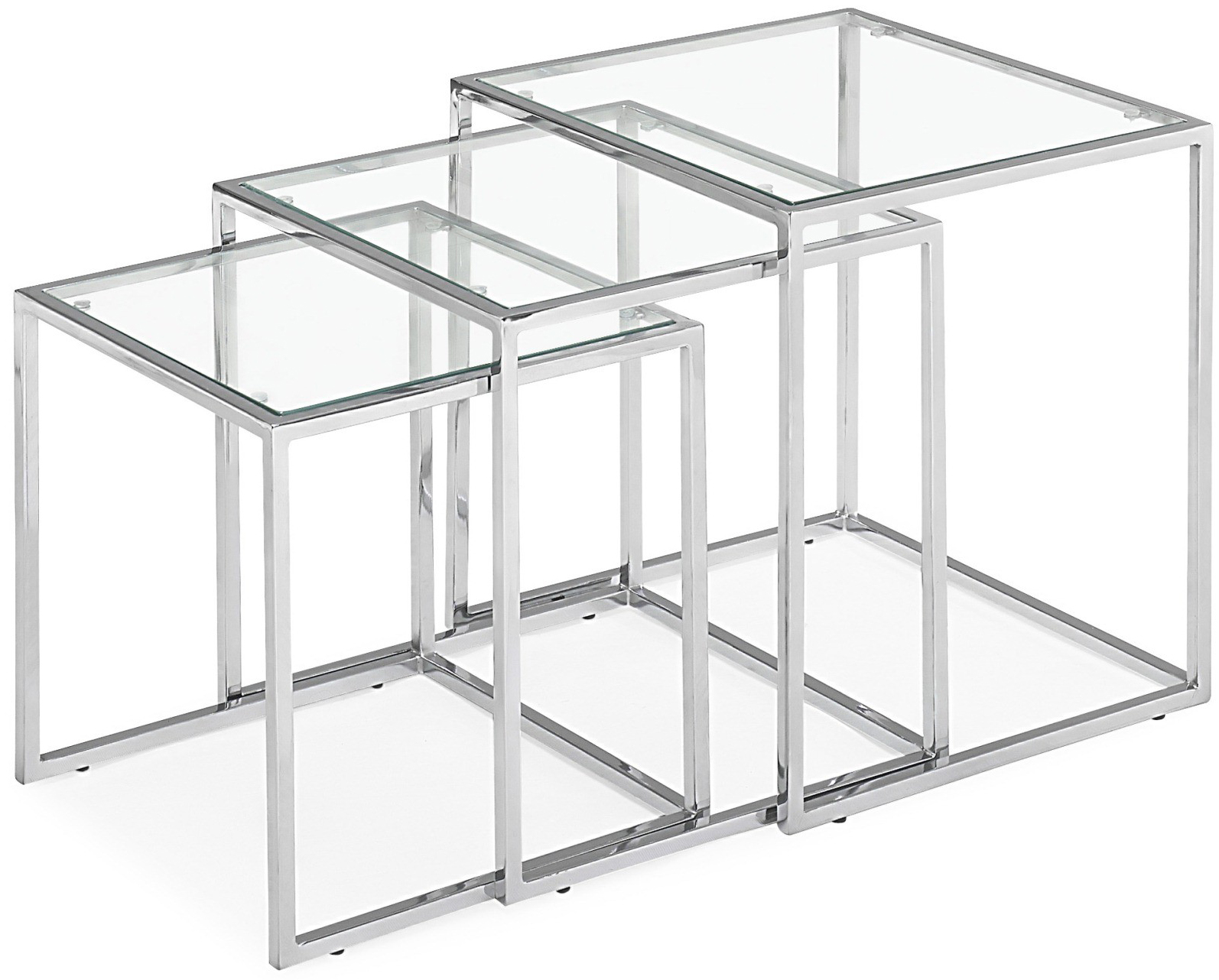 Pasos Nesting Tables Zuo Modern Modern Nesting Tables - Clear nesting tables