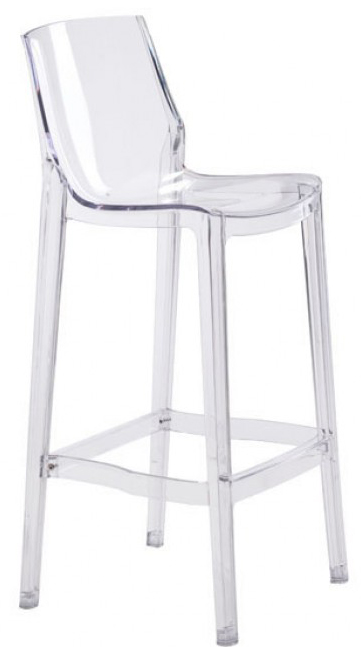 Charmant Phantom Bar Chair Clear