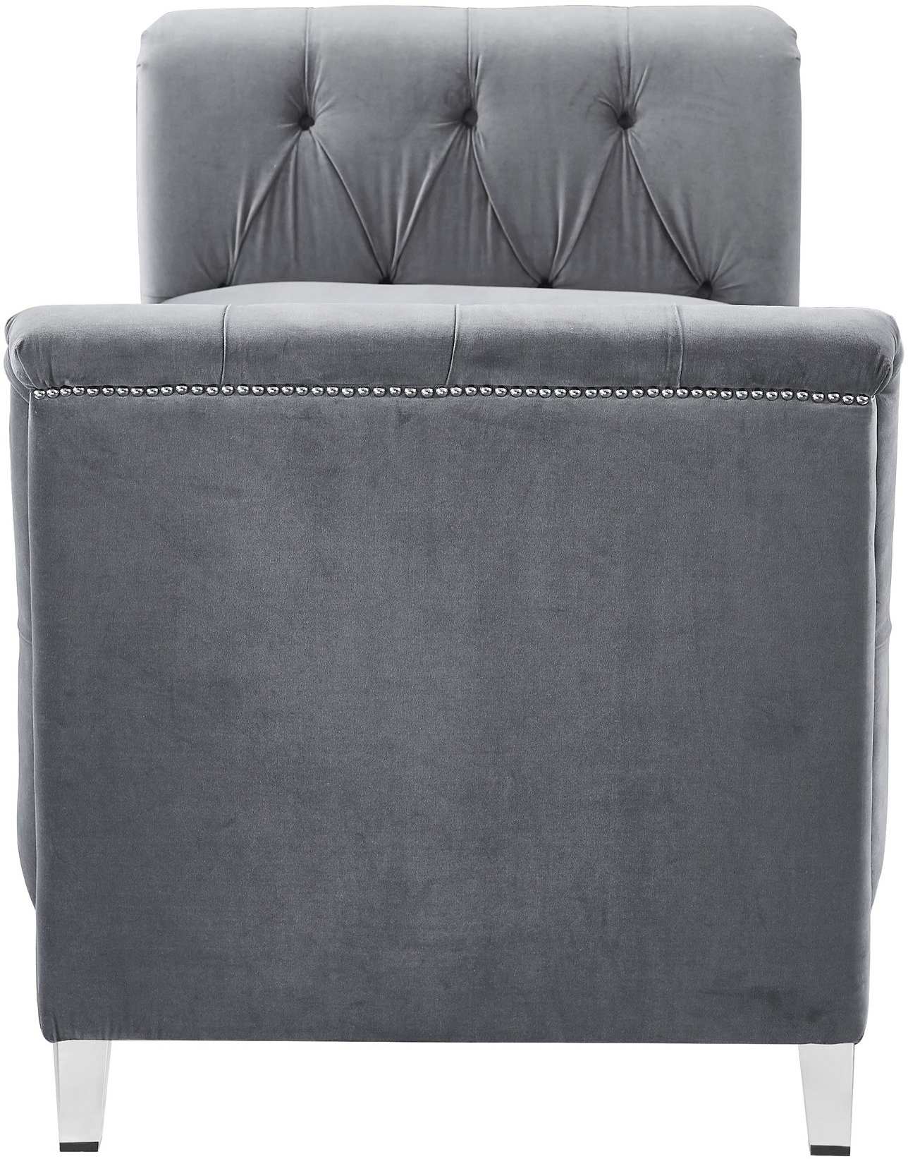velvet grey presidio bench daybed